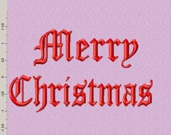Merry Christmas Embroidery Logo