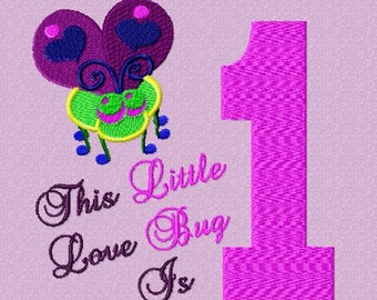 Love Bug is 1 Embroidery Design