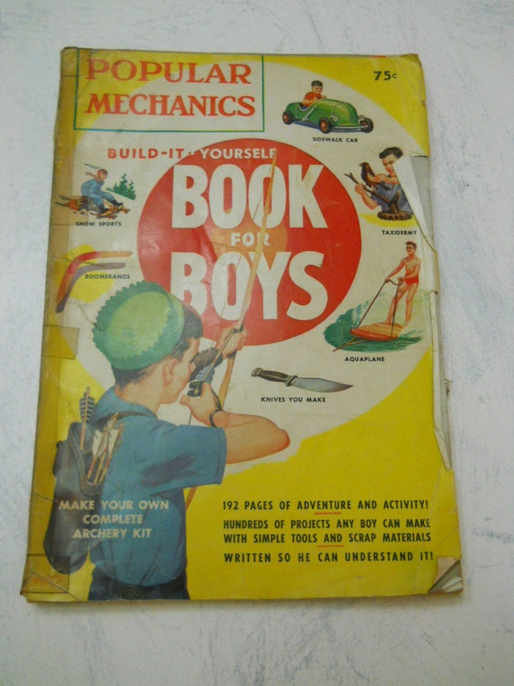1950s Popular Mechanics Build it yourself book for boys
