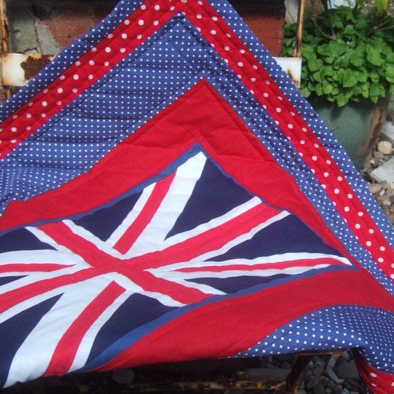 Union Jack Pram or Lap Quilt