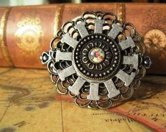 Steampunk bracelet Crystal Gears