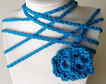 Flower Handmade Crochet Necklace