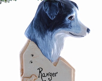 Border Collie Christmas ornament - personalized border collie ornament - personalized dog ornament (d113)