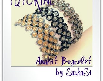 Anahit Bracelet Beading Tutorial DOWNLOAD- Step-by-Step Beading instructions - PDF File