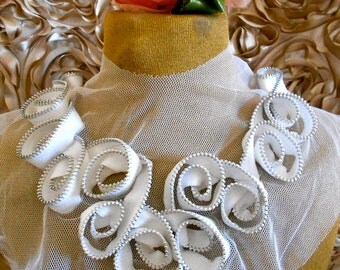 White Zippered Appliques
