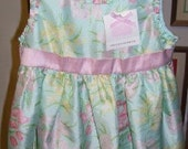 Vintage Janieandjack 100% Silk Baby Dress / Panty Set Size 18 to 24 Months New w Tags
