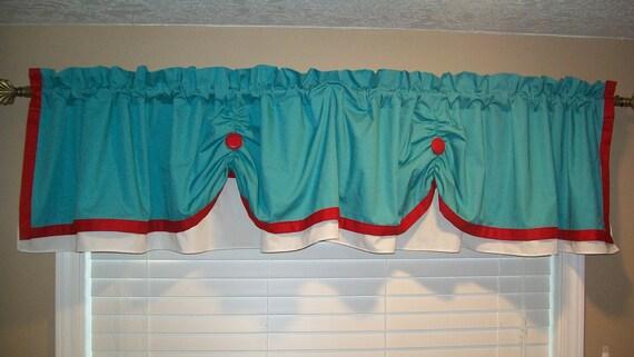 items similar to valance curtain swagged custom made