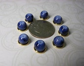 Cobalt Blue Watercolor Beads 6mm