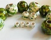 14 Ceramic Macrame Beads