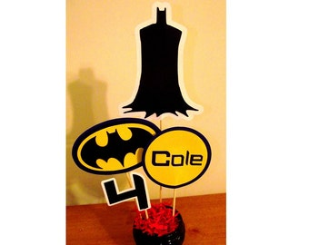 Batman Inspired Birthday Centerpiece