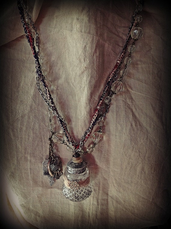 RESERVED -Bohemian assemblage nekclace - precious things