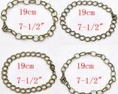"4 Bronze Bracelets  - Assorted - 7 1/2"" - 19cm - Ships IMMEDIATELY from California - CH71"