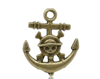 50 Anchor Charms - WHOLESALE - Bronze Antique - 22x18mm - Ships IMMEDIATELY  from California - BC 354a