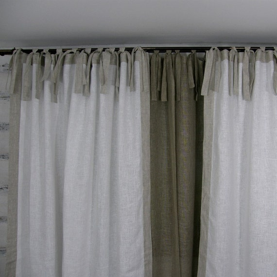 White Polka Dot Sheer Curtains Black Tie Top Curtains