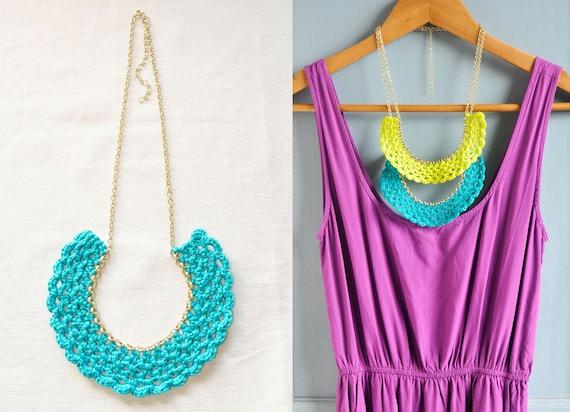 Color Pop Crocheted Bib Necklaces