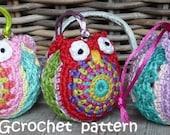 Crochet pattern Christmasball owl by ATERGcrochet