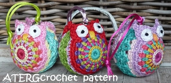 Crochet pattern Christmasball owl by ATERGcrochet