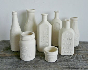 Porcelain Brewery Bottle, Chicago