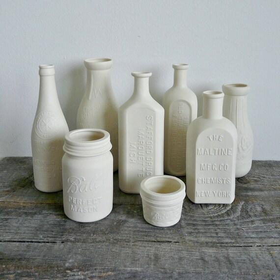 Porcelain Brewery Bottle, Chicago
