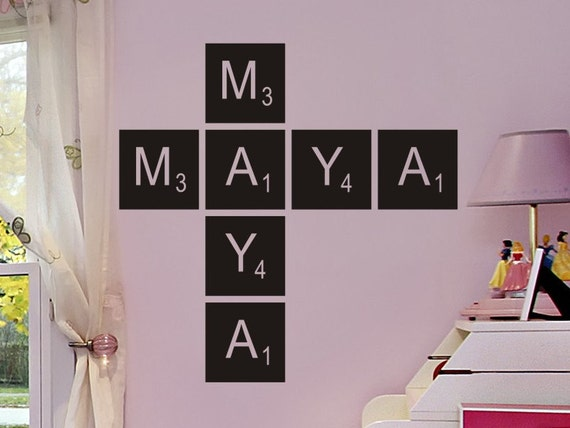 Scrabble Letters Wall Decoration : Items similar to scrabble letters wall decals stickers