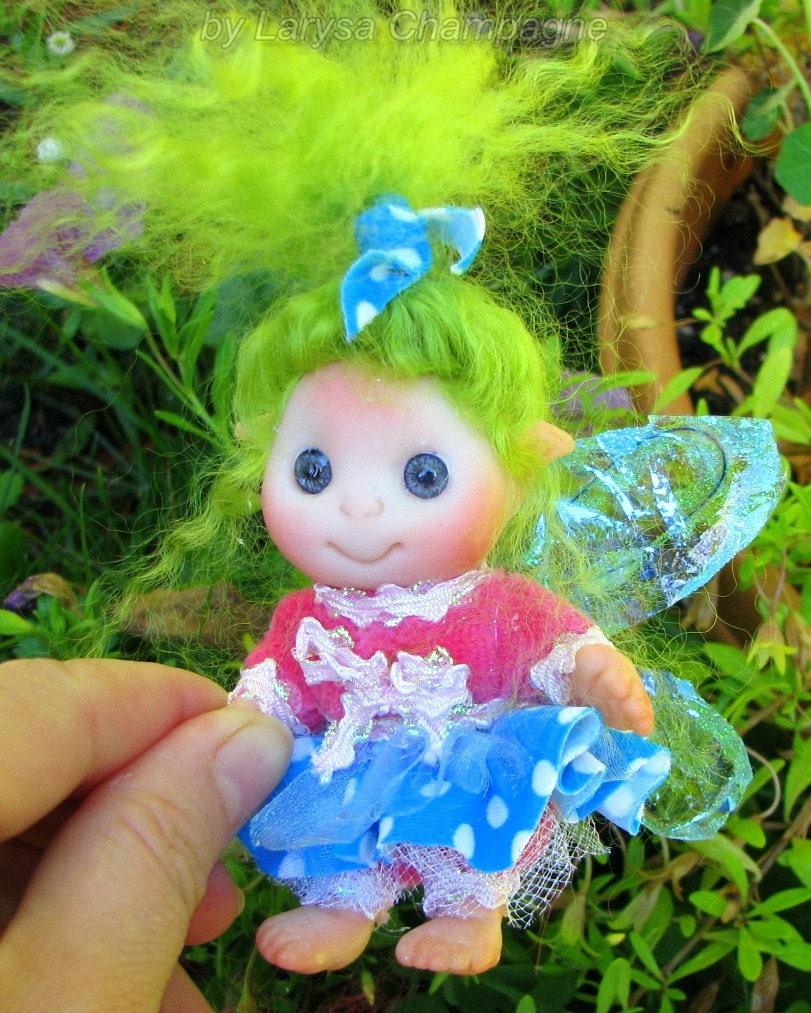 Cute Baby Fairies: Green Hair Fairy Cute Baby Doll Decoration For Home