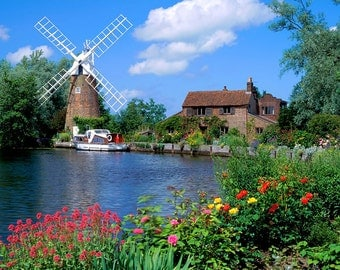 Instant Download Counted Cross Stitch PDF Pattern N9ld - Hunsett Mill Norfolk