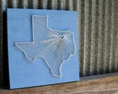Texas Love // Reclaimed Wood Nail and String Art Tribute to the Lonestar State