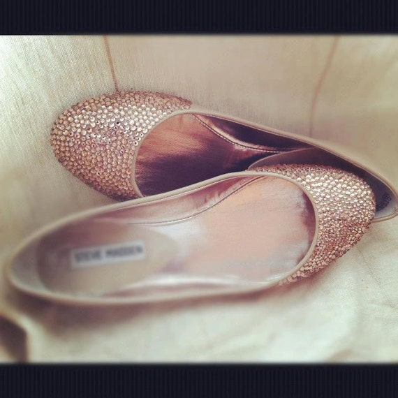 Items Similar To Champagne Wedding Shoes, Ballet Flats