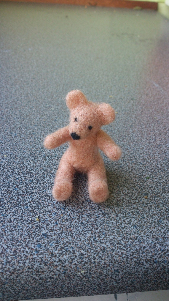 Needle felted miniature teddy bear - free shipping CIJ sale