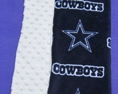 Dallas Cowboys Baby Crib Blanket in Cuddle Soft and Minky Fabric
