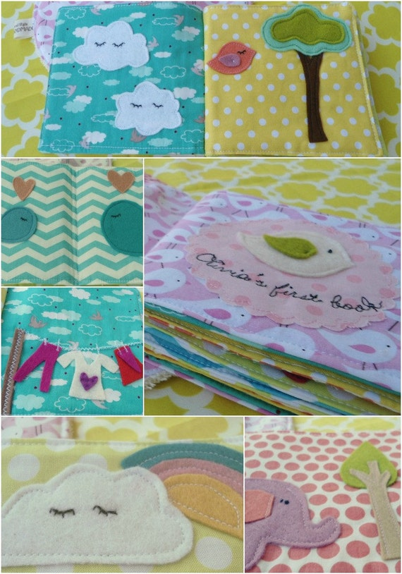 Baby's first fabric book/ baby's quiet/soft book