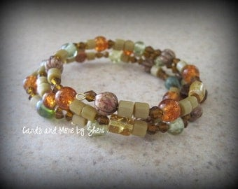 Fun and Funky  Memory Wire Bracelet