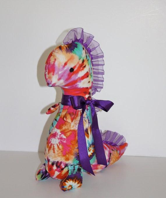 Sale tie dye girly dinosaur christmas stocking or baby for Girly dinosaur fabric