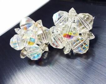 Vintage Laguna Aurora Crystal Earrings