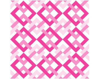 Quilt Block Pattern Chain Link Fence 10