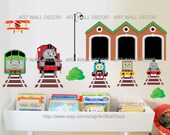 Thomas Train and Friends - PEEL and STICK removable Vinyl Wall Decal, Wall Sticker, Wall Decor (FREE shipping)