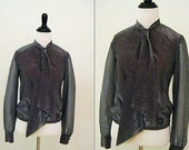1970's Vintage Julie Miller of California Tie Front Blouse