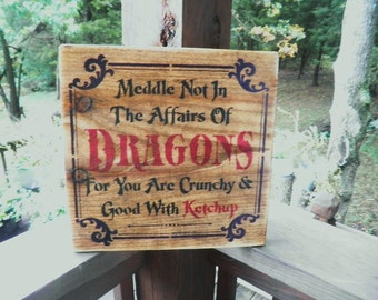 Halloween sign, dragon sign , Halloween decoration, scary sign, funny halloween sign, wood sign