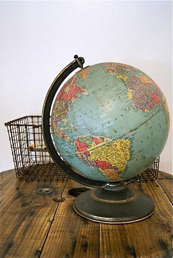 Antique 1940's globe