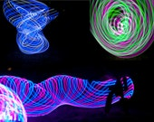 Free Shipping - LED Hula Hoop TriBundle - Liquid Swirl / Melon Slice / Midnight Rose