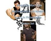 WannaBe Rob McElhenney Temporary Tattoos