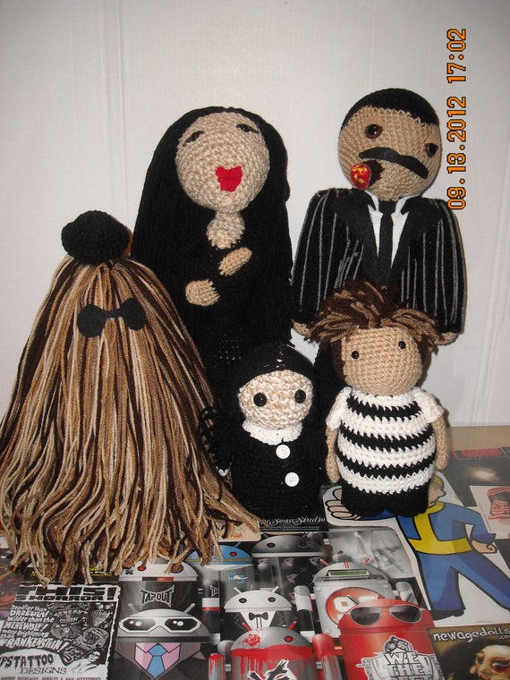Items similar to Addams family Doll set amigurumi horror