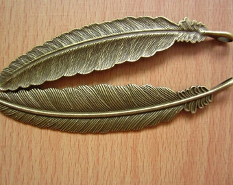 4pcs 108x22mm antique bronze flyer feather charms pendant C2713