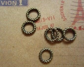 100pcs 9mm antique bronze charms pendant R26013