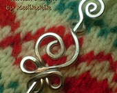 Adorable Little CELTIC SWAN Brooch, Hair Pin or Shawl Pin For Scarf made with Aluminum Wire - Very Light to Wear - A beautiful Gift