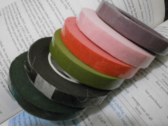 Floral Tapes 30 Meters per Roll in 6 different colors x 6 Rolls per Set, 1 color each LAST SET
