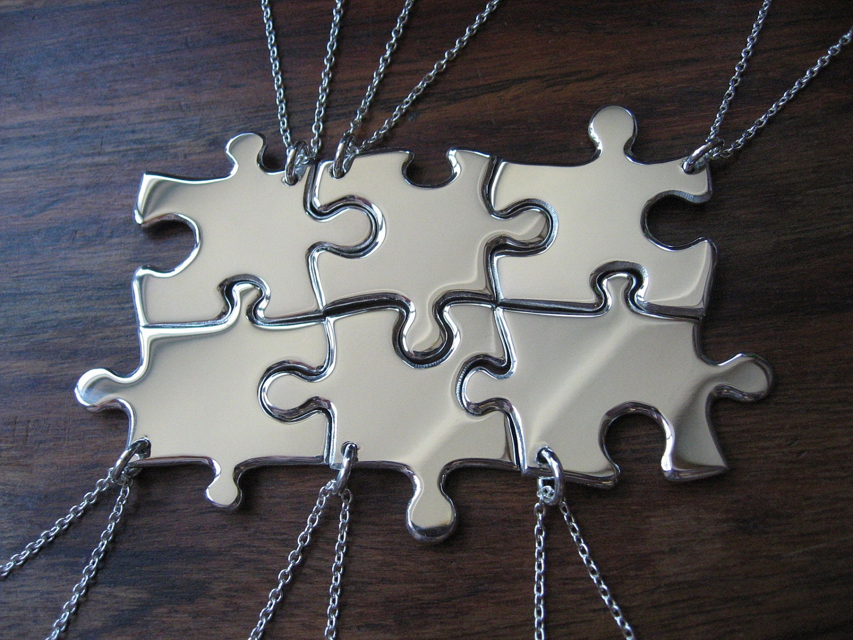 6 puzzle pendant necklaces argentium silver