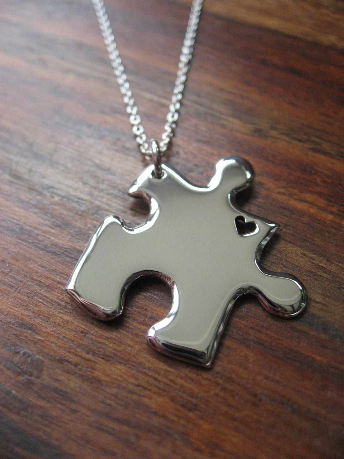 silver puzzle pendant necklace