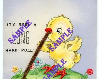 Digital Download-Its Been a Long Hard Pull-Vintage Get Well Card