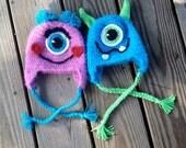 Instant Download - PDF Monster Hat Crochet Pattern - Monster - photography prop - baby hat - Halloween - Costume